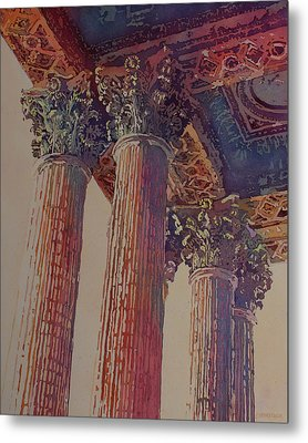 Pillars Of The Humanities Metal Print by Jenny Armitage