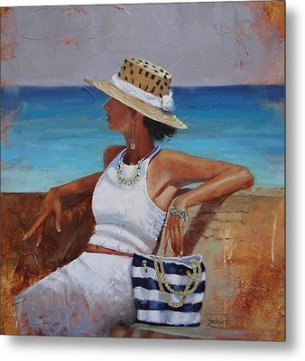 Pina Colada Please Metal Print by Laura Lee Zanghetti