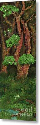 Pines By The Brook Metal Print by Anna Folkartanna Maciejewska-Dyba