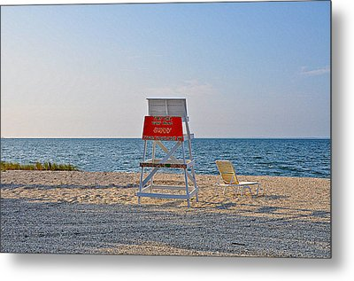 Piney Point Beach Metal Print by Bill Cannon