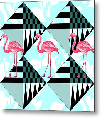 Ping Flamingo Metal Print by Mark Ashkenazi