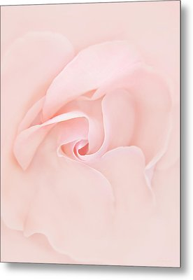 Pink Abstract Rose Flower Metal Print by Jennie Marie Schell