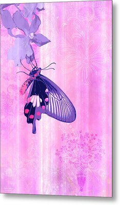 Pink And Purple Companions 1 Metal Print by JQ Licensing