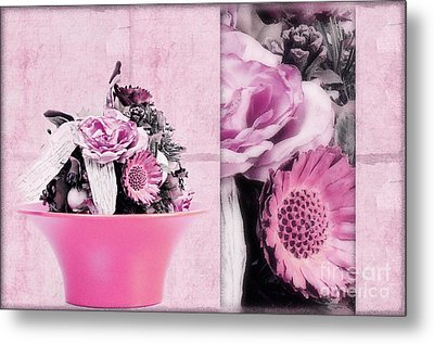 Pink Metal Print by Angela Doelling AD DESIGN Photo and PhotoArt