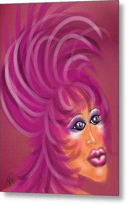 Pink Flamingo Metal Print by Ronald Terrel