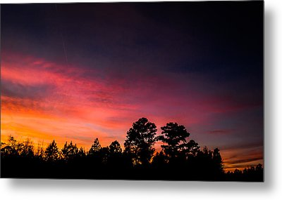 Pink Hues Fill The Sky Metal Print by Shelby Young