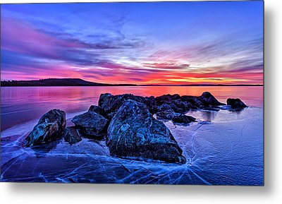 Pink Ice At Dawn Metal Print by Bill Caldwell -        ABeautifulSky Photography