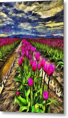 Pink Impression 2 Metal Print by Mark Kiver