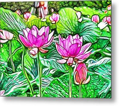 Pink Lotus Flower 3 Metal Print by Lanjee Chee