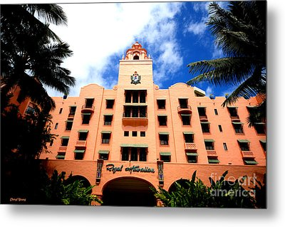 Pink Palace Of The Pacific Metal Print by Cheryl Young