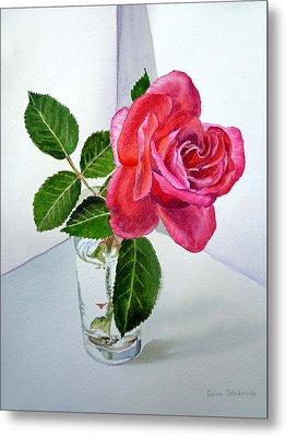 Pink Rose Metal Print by Irina Sztukowski