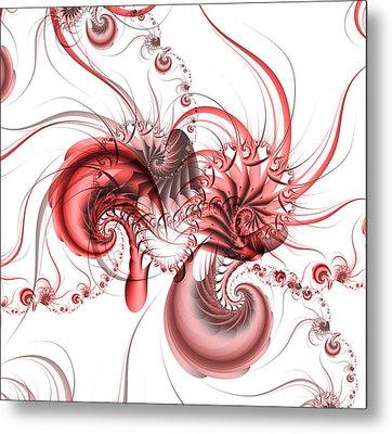 Pink Shrimp Metal Print by David April
