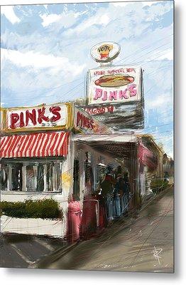 Pinks Metal Print by Russell Pierce