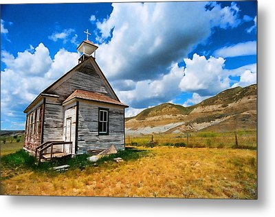 Pioneer Church 1 Metal Print by Lawrence Christopher