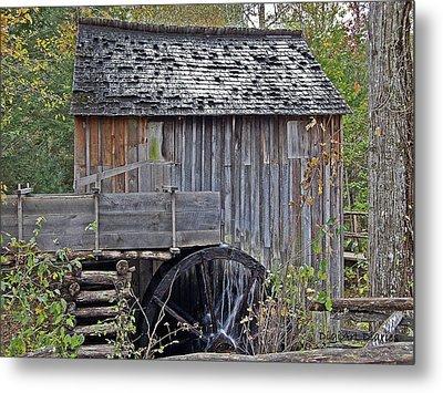 Pioneer Water Mill Metal Print by DigiArt Diaries by Vicky B Fuller