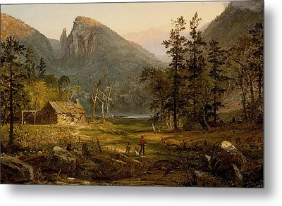 Pioneer's Home Eagle Cliff  White Mountains Metal Print by Jasper Francis Cropsey