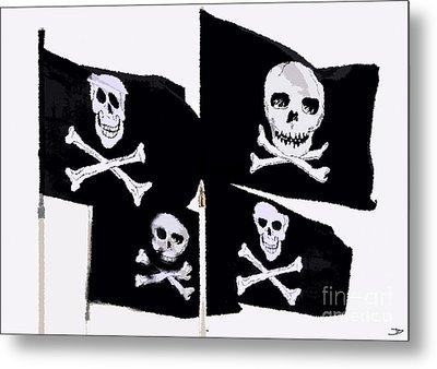 Pirate Flags Metal Print by David Lee Thompson