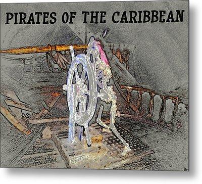 Pirates Skeleton Metal Print by David Lee Thompson