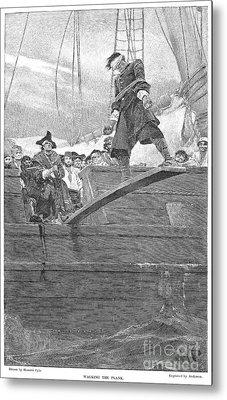 Pirates: Walking The Plank Metal Print by Granger