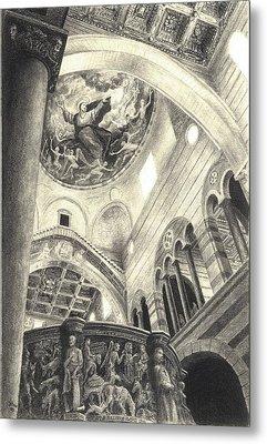 Pisa Duomo Metal Print by Norman Bean