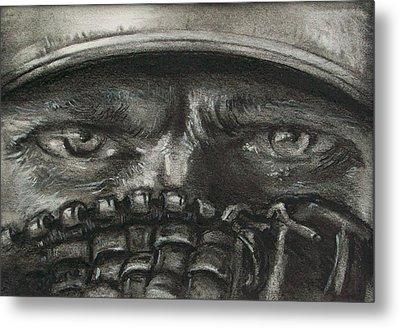 Pitchers Eyes Metal Print by Tom Forgione