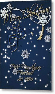 Pitt Panthers Christmas Cards Metal Print by Joe Hamilton