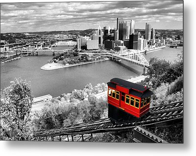 Pittsburgh From The Incline Metal Print by Michelle Joseph-Long