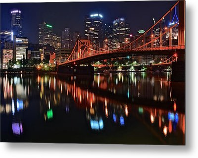 Pittsburgh Lights Metal Print by Frozen in Time Fine Art Photography