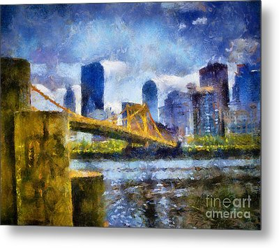 Pittsburgh North Shore Skyline Metal Print by Amy Cicconi