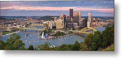 Pittsburgh Pano 23 Metal Print by Emmanuel Panagiotakis
