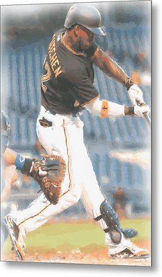 Pittsburgh Pirates Andrew Mccutchen 2 Metal Print by Joe Hamilton