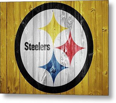 Pittsburgh Steelers Barn Door Metal Print by Dan Sproul