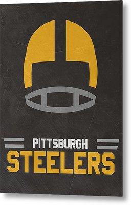 Pittsburgh Steelers Vintage Art Metal Print by Joe Hamilton