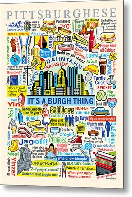Pittsburghese Metal Print by Ron Magnes