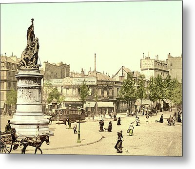 Place Clichy In Paris Metal Print by French School