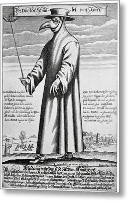 Plague Doctor, 17th Century Artwork Metal Print by