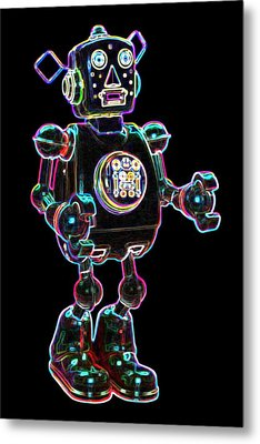 Planet Robot Metal Print by DB Artist