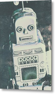 Playback The Antique Robot Metal Print by Jorgo Photography - Wall Art Gallery