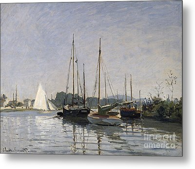 Pleasure Boats Argenteuil Metal Print by Claude Monet