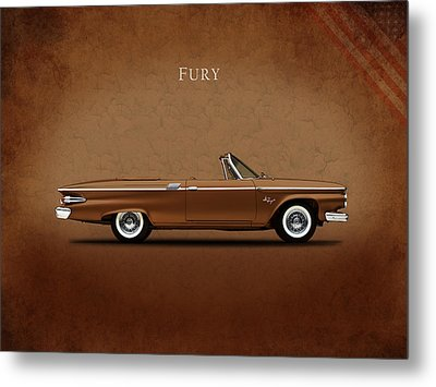 Plymouth Fury 61 Metal Print by Mark Rogan
