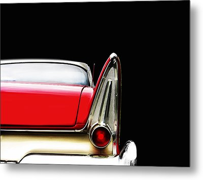 Plymouth Fury Fin Detail Metal Print by Mark Rogan