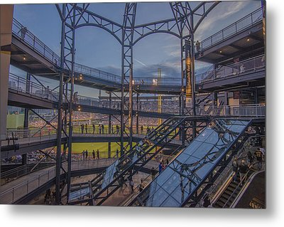 Pnc Park Pittsburgh Pirates D Metal Print by David Haskett