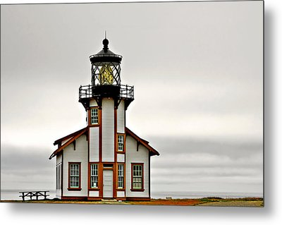Point Cabrillo Lighthouse California Metal Print by Christine Till