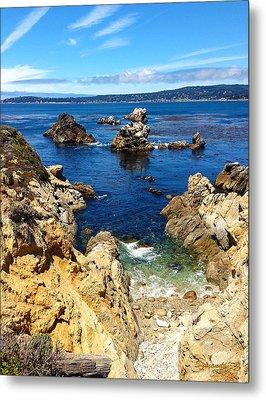 Point Lobos Whalers Cove- Seascape Art Metal Print by Kathy  Symonds