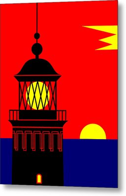 Point Queen Charlotte Light House Metal Print by Asbjorn Lonvig