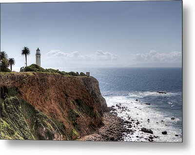 Point Vicente Lighthouse In Winter Metal Print by Heidi Smith