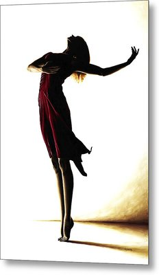 Poise In Silhouette Metal Print by Richard Young