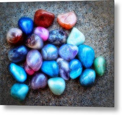 Polished Rocks- Photography Metal Print by Ann Powell