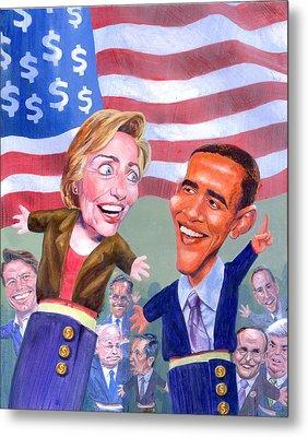 Political Puppets Metal Print by Ken Meyer jr