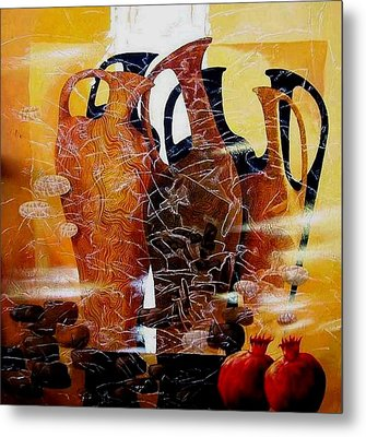Pomegranates Metal Print by Yelena Revis